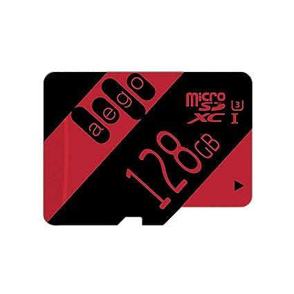 AEGO 128GB Tarjeta Micro SD Clase 10 U3 SDXC Tarjeta de Memoria de Alta Velocidad para Cámara Gopro Dash CAM con Adaptador-U3 128GB