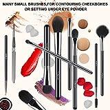 BESTOPE 16 Pcs Makeup Brushes Shiny Holographic