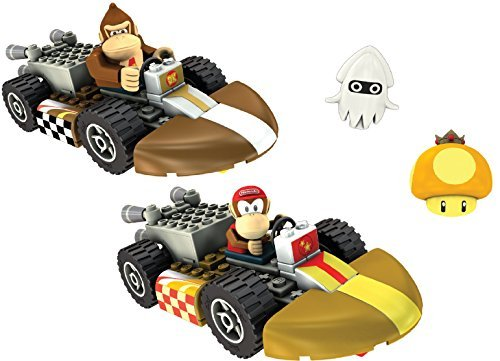- KNEX Nintendo Wii Mario Kart Donkey and Diddy Kong Building Set 2 Car Collection