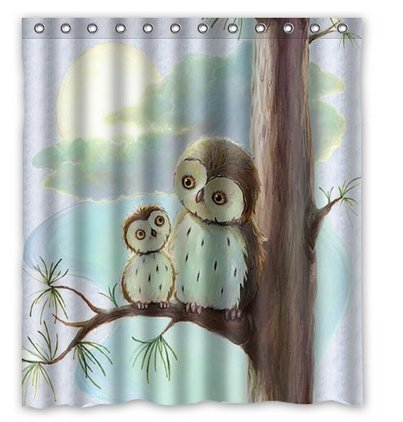 Owl Shower Curtains Kritters In The Mailbox Owl Shower