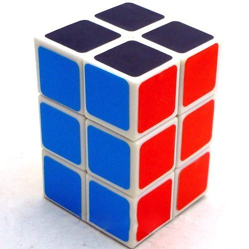 Toy Puzzle Cuboid Cube Twisty Puzzle, Smooth, White