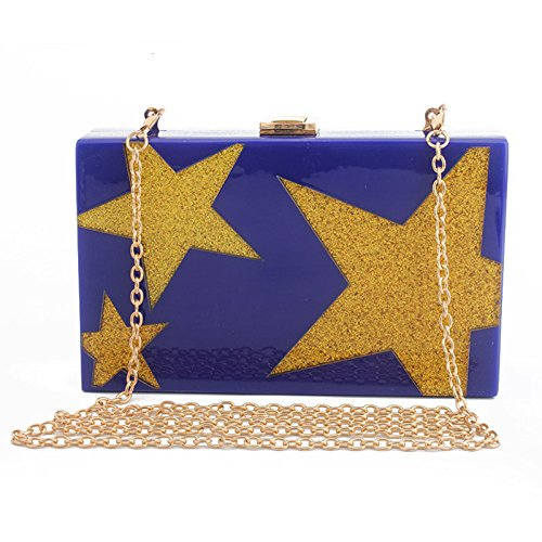 Ladies Evening Girl's Rhinestone Party NBWE Clutch Blue Pouch Handbag Ball for Clutch and Wedding HnTwxCxqE