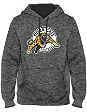 Hamilton Tiger-Cats CFL Poly Express Twill Logo Hoodie - Grey Melange