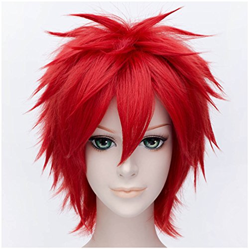 Red Short Wig (Flovex Short Straight Anime Cosplay Wigs Natural Sexy Costume Party Daily Hair (Red))