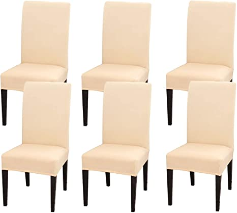 Velvet Dining Chair Seat Covers Slip Stretch Wedding Banquet Party Removable ^