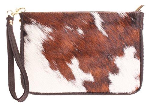 Big Handbag Shop - Cartera de mano con asa de piel para mujer One Pony - Design 3