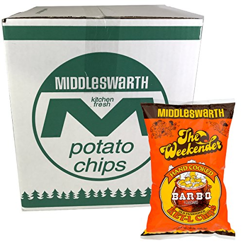 Middleswarth Hand Cooked Old Fashioned KET-L Bar-B-Q Flavored Potato Chips - 3 LB. Box