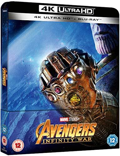 Avengers Infinity War Steelbook 4k UHD+Bluray Version avengers 2018 avengers 3 Uk Exclusive Edition Steelbook Region Free: Amazon.es: Cine y Series TV