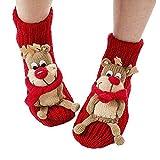 Best Christmas Presents - Christmas Winter Indoor Floor Socks 3d Cartoon Animal Review
