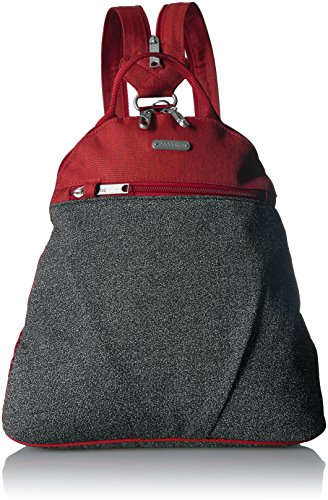 Baggallini Anti-Theft Backpack - Stylish Carry-on Travel Bag With Locking Zippers and RFID-Protected Wristlet
