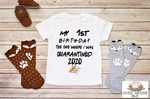 First Birthday Onesie Quarantine Baby Gift Quarantine Shirt First Birthday Quarantine Quarantine Onesie Quarantine Birthday