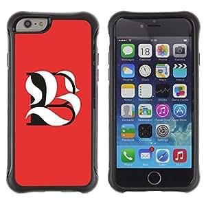 Suave TPU GEL Carcasa Funda Silicona Blando Estuche Caso de protección (para) Apple Iphone 6 PLUS 5.5 / CECELL Phone case / / B L Be Meaning Calligraphy Initial /