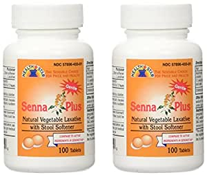 Amazon Com Senna Plus Natural Vegetable Laxative With