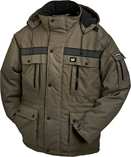 Caterpillar Men's Big and Tall Heavy Insulated Parka (Regular and Big & Tall Sizes), Army Moss, 3X Large from Caterpillar