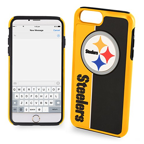 Forever Collectibles iPhone 8/7 Dual Hybrid Bold Case – NFL Pittsburgh Steelers