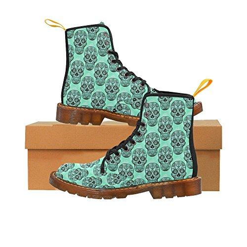 Leinterest Skull Martin Boots Fashion Shoes Voor Heren