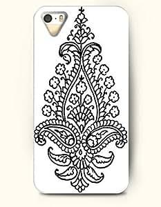 SevenArc Apple iPhone 5 5S Case Paisley Pattern ( Black Buteh Symbolizes Life and Eternity )