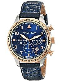 Men's NAD17500G BFD 105 Chrono Analog Display Japanese Quartz Blue Watch