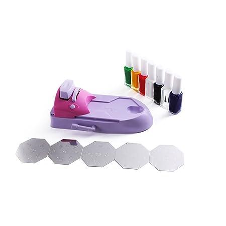 Amazon printing machine set with 7pcs nail polish code amazon printing machine set with 7pcs nail polish code 81 by beauties factory nail art equipment beauty prinsesfo Choice Image