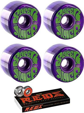 Pack of 4 OJ Super Juice Trans Pastel 78A Skateboard Wheels 60mm