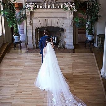 Kelaixiang 3 Meter Cathedral Length Wedding Veil For Bride
