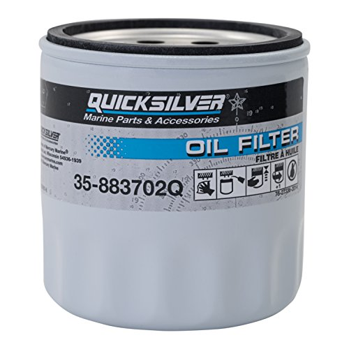 Quicksilver 883702Q Engine Block Mount Oil Filter - V-6 MerCruiser Stern Drive Engines (Mercruiser Stern Drive Parts)