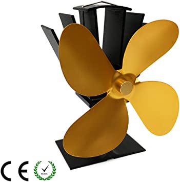Weyty - Ventilador de estufa de leña, 50-350 °C, potencia de calor ...