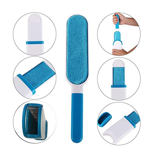 Pet Fur & Lint Remover Brush with Self-Cleaning Base, Extra-Large Double-Sided Lint Brush for Furniture,Clothes,Couch, Car Seat-Effective Dogs/Cats Hair Removal Tool (2pcs/set) by PETOU (Image #1)