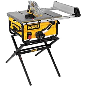 DEWALT DWE7480XA 10-Inch Compact Job Site Table Saw with Guarding System and Stand