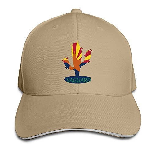 Unisex Arizona State Flower Saguaro Hip Hop Trucker Sandwich Peaked Cap Natural (Flower Flagstaff Shops)