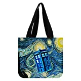Emana Custom Doctor Who painting Durable Tote Bag (2 Sides) Canvas Shopping Bag