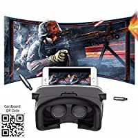 SIDARDOE 3D VR Goggles, Virtual Reality Headset for iPhone 6 6s Plus Samsung HTC Sony and Other Android Smartphones Black from SIDARDOE