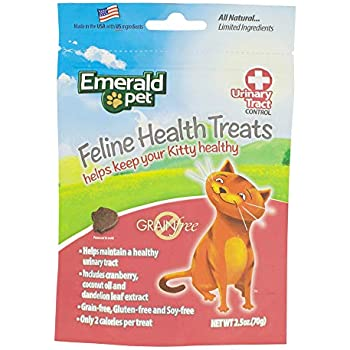 Emerald Pet - Urinary Tract Formula Cat Treats, With Chicken, All Natural, Grain Free, Gluten Free, Soy Free, Allergy Friendly, Low Calorie for Your Feline ...