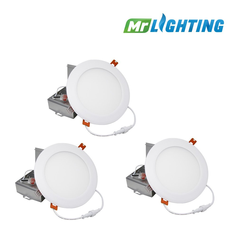 LED Slim Panel - White - 12W - 6 inch - 700 Lumens - Dimmable - Type IC (Sets of 3 pcs) (4000K Day Light / 277-347V AC) Mr. Lighting