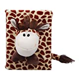 JTC Animal Cartoon Plush Photo Album Photo Cover Album Frame 4x6 6 Styles (Giraffe)