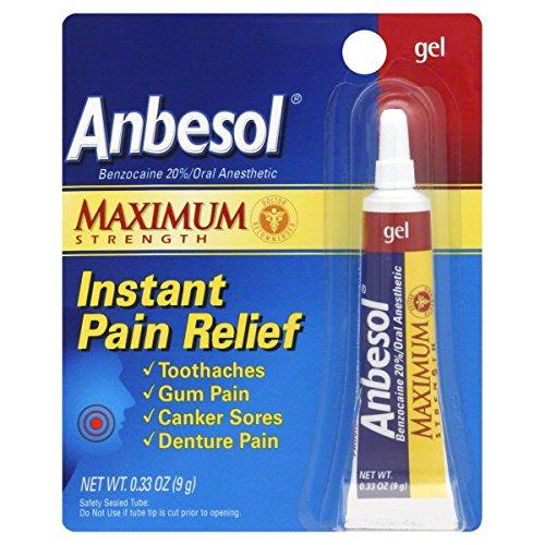 Anbesol orale anesthésique, Force maximale, Gel