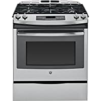 GE JGS650SEFSS 30 Stainless Steel Gas Slide-In Sealed Burner Range