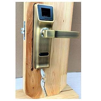 Cerraduras electrónicas de la manija con cerradura biométrica de la huella digital , left: Amazon.es: Bricolaje y herramientas