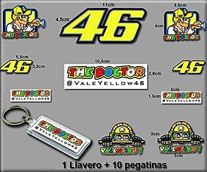 Ecoshirt 6B-G6YX-DHCO Pegatinas y Llavero 46 Valentino Rossi The Doctor Am10 F Stickers and Key Ring Aufkleber Vinilos Adesivi Decals Model 7