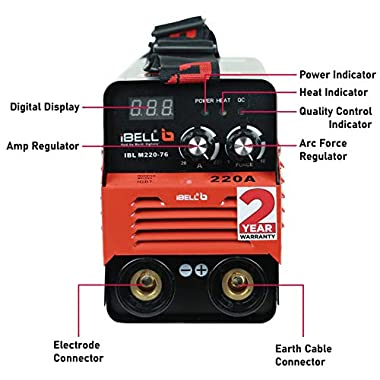 iBELL Inverter ARC Welding Machine (IGBT) 220A with Hot Start, Anti-Stick Functions, Arc Force Control - 2 Year Warranty 6