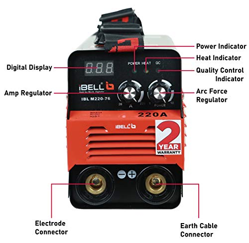 iBELL Inverter ARC Welding Machine (IGBT) 220A with Hot Start, Anti-Stick Functions, Arc Force Control - 2 Year Warranty 2