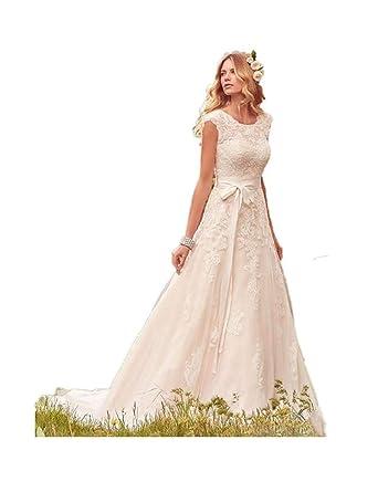 e2f73b9c90 JCdress Simple Elegant Lace Wedding Dress Modesty Sleeve Bohemia Wedding  Beach Wedding Party Dress