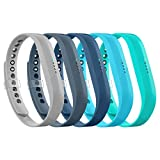 LEEFOX Compatible Fitbit Flex 2 Band, Replacement for Fitbit Flex 2 Accessory Silicon Wristband w/Fastener Clasp Fitness Strap for Original Flex 2, 5 Packs, Small(Psalm 23-3)