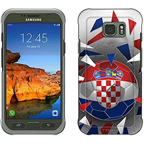 Samsung Galaxy S7 Active Case, Snap On Cover by Trek Soccer Ball Croatia Slim Case Sales