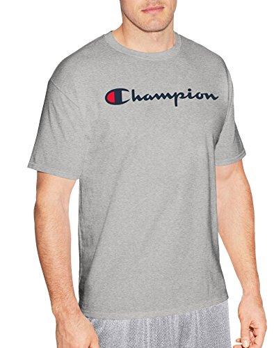 Champion Men's Classic Jersey Script T-Shirt, Light Steel, ()