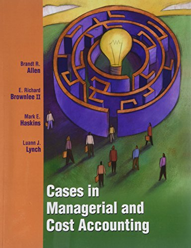 Title: CASES IN MANAGERIAL COST ACCOU