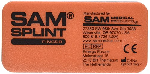 (SAM Medical Finger Splint, Orange and Blue, 3 Count)