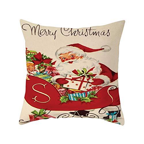 callm Pillow Case Christmas Simple Chic Home Decorative Soft Peach Skin Throw Waist Pillowcase Cushion Covers Decoration Pillow Protector Pillow Slipcover Sofa Home -