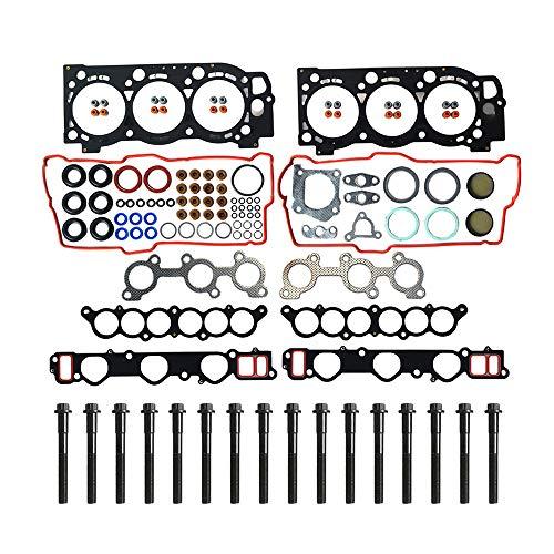 MPLUS Cylinder Head Gasket Set & Head Bolt Kit for 96-02 Toyota 4Runner & 95-98 Toyota T100 & 95-04 Toyota Tacoma & 00-04 Toyota Tundra 3.4L V6 5VZFE Engine