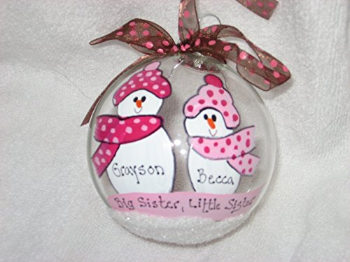 Big Sister, Little Sister - Personalized Christmas (Big Sister Personalized Ornament)
